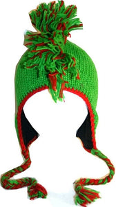 Mohawk Wool Funky Beanie Flag Hats - Agan Traders, Green