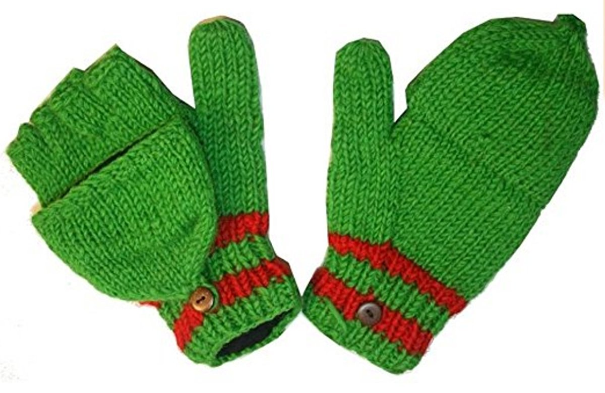 Multi-colored Knit Folding Mitten - Agan Traders