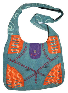 Bg 114 1AD HANDMADE PURSE YOGA HIPPY SHOULDER BOEMIAN BOHO TOTE BAG - Agan Traders, Turquoise