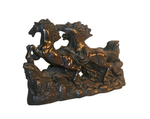 Resin Hand Crafted Horses Sculpture - Agan Traders