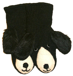 Animal Glove Wool Fleece Lined Warm Soft Adult Teenagers Outdoor Activities Ski Mitten - Agan Traders, Dog