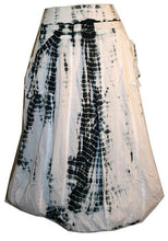 60 Skt Cotton Tie Dye or Solid Balloon Front Pocket Bubble Skirt - Agan Traders, Black White