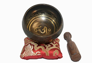 Antique Tibetan Auspicious Symbol Bowl Set - Agan Traders, SB 3013 G