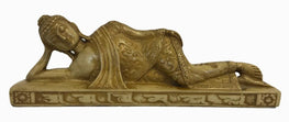 Agan Traders Nepal Resin Sleeping Reclining Buddha Nirvana Sleeping Buddha Statue ~ Art Statue ~ Home Office Decor ~ Gift Souvenir. - Agan Traders, BD-bg-2""