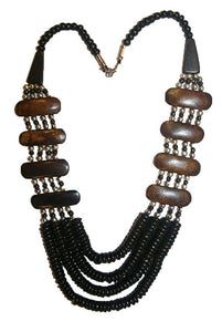 Agan Traders Fashion Jewelry Choker Necklace Trendy Gypsy Vintage Bead Mala For Women ~ India - Agan Traders, NK07 13inch