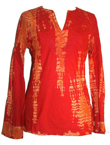 Tie Dye Light Weight Cotton Top Blouse Tunic Kurta - Agan Traders