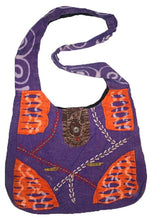 Bg 114 1AD HANDMADE PURSE YOGA HIPPY SHOULDER BOEMIAN BOHO TOTE BAG - Agan Traders, Purple