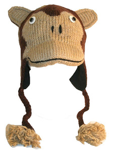 2-Ply Wool Adult Animal Hat - Agan Traders, J Monkey