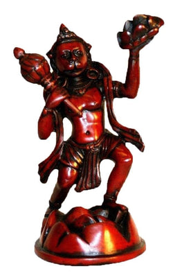 Resin Hanuman Lord Ram Devotee Statue Fair Trade (4.5 X 6.5 inches; 1lb) - Agan Traders