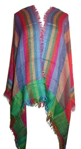 Viscouse Jaipuri Printed Rainbow Shawl Wrap Throw : 26 X 68 inches - Agan Traders