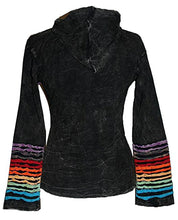 RJ 340 Agan Traders Hand Crafted Funky Cotton Bohemian Hoodie Jacket - Agan Traders, Multi