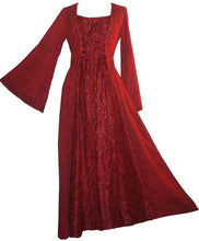 Net Medieval Vampire Gothic Renaissance Dress Gown - Agan Traders, Burgundy