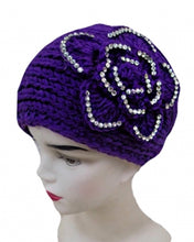 Knitted Soft Big Beautiful Flower Stones Headband - Agan Traders