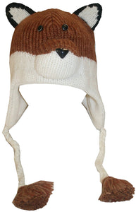 2-Ply Wool Adult Animal Hat - Agan Traders, Fox