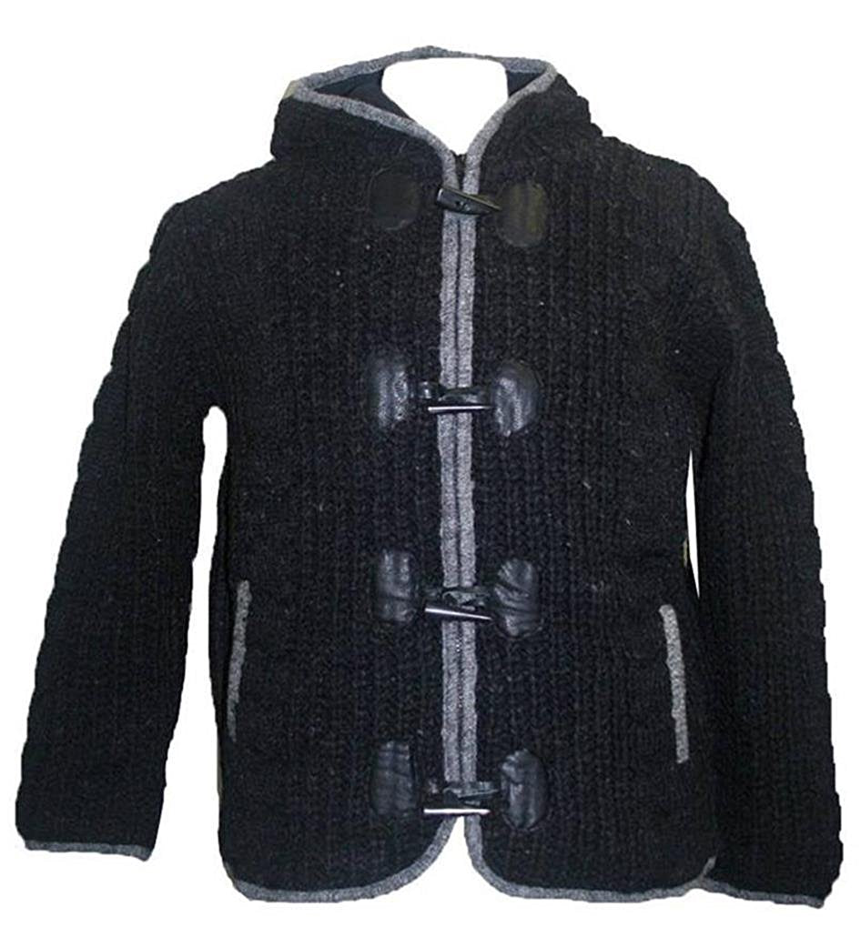 Women's BADA Lamb's Wool Lined Hoodie Sweater Cardigan Jacket Petite Size - Agan Traders, Charcoal