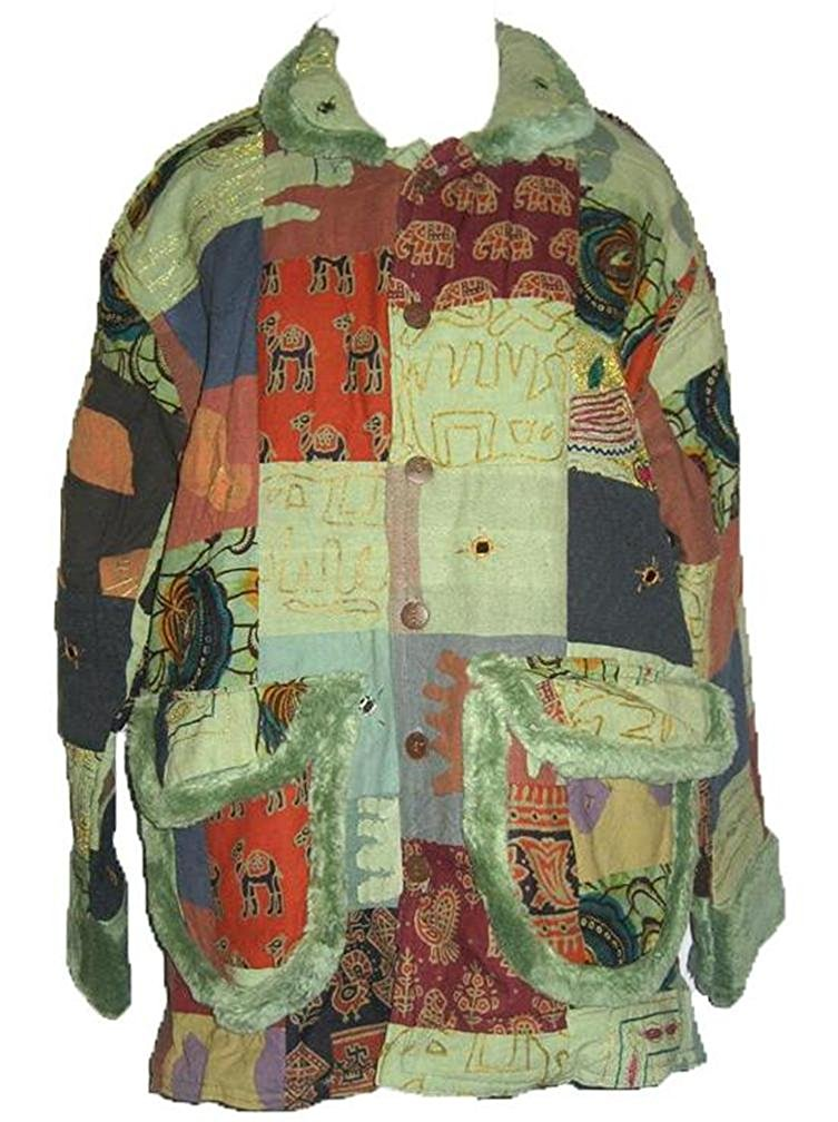 Patch Light Padded Jaipuri Coat Jacket Outerwear India - Agan Traders