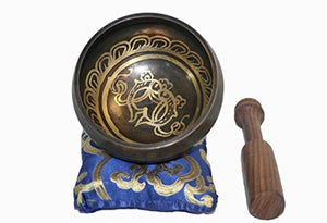 Antique Tibetan Auspicious Symbol Bowl Set - Agan Traders, SB 3016 B
