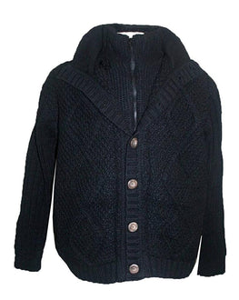 DD WJ Agan Traders Unisex Lamb Wool Fleece Crochet Sherpa Cardigan Sweater ~ Nepal - Agan Traders