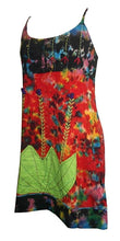 NS 12 Agan Traders Tie Dye Spaghetti Strap Bohemian Mini Dress Tank Top Camis. - Agan Traders, Multicolor