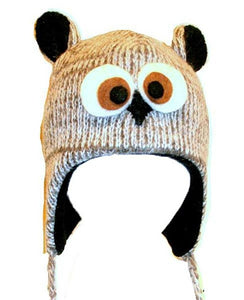 2-Ply Wool Adult Animal Hat - Agan Traders, Grey Owl