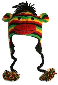 2-Ply Wool Adult Animal Hat - Agan Traders, Rasta