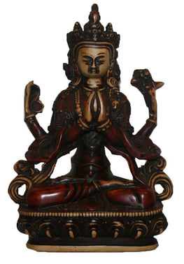 Resin Tara Statue (5.5 X 8.5 inches; 1lb 12oz) - Agan Traders