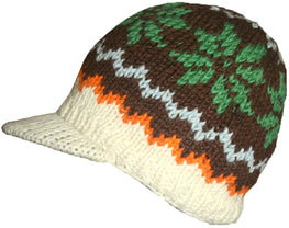 Knit Peak Hat OR Mitten Or Folding Mitten - Agan Traders