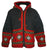 WJ 14 Agan Traders Wool Fleece Lined Cardigan Sweater With Elf Hood - Agan Traders, Red Charcoal