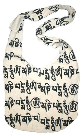 06 BG Cotton Spiral Gypsy Shoulder Bag Purse Tote Satchel - Agan Traders, Whitescript