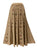712 SK Agan Traders Medieval Embroidered Long Skirt - Agan Traders, Beige