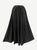 712 SK Agan Traders Medieval Embroidered Long Skirt - Agan Traders, Black