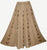 712 SK Agan Traders Medieval Embroidered Long Skirt - Agan Traders, Camel