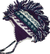 Mohawk Wool Funky Beanie Flag Hats - Agan Traders, Purple White