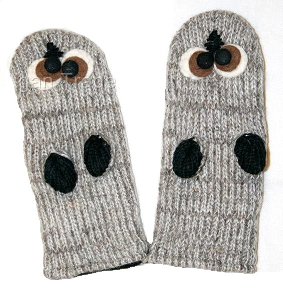889117b9 Animal Glove Wool Fleece Lined Warm Soft Adult Teenagers Outdoor Activities  Ski Mitten - Agan Traders