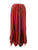 714 Skt Bohemian Gypsy Asymmetrical Hem Rayon Netted Skirt - Agan Traders, B. Red