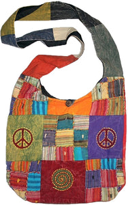 Patch Multi-colored Cotton Bohemian Gypsy Bag Purse - Agan Traders, Multi 1