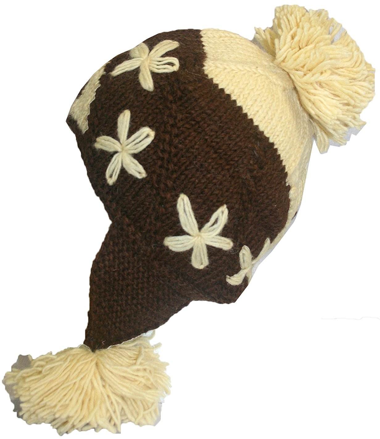 Highland Wool Knit Beanie Fleece Earflap Beanies - Agan Traders, 1410 CB H