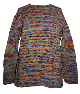 WS 01 Wool Hand Knitted Unisex Multi Color Sweater Sherpa - Agan Traders