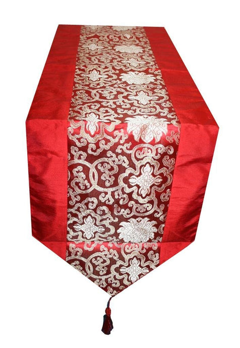 Oriental Brocade Lined Table Runner [73 X 13 inches] - Agan Traders