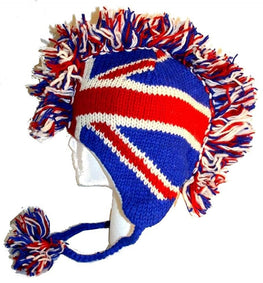 Mohawk Wool Funky Beanie Flag Hats - Agan Traders, UK 947