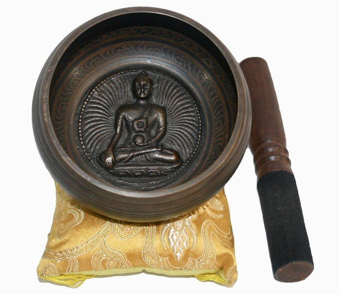 4300 Series Antique Tibetan Auspicious Symbol Bowl Set - Agan Traders, SB 4382 D