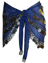 ST Agan Traders Belly Dancing Zumba Hip Coin Gypsy Hip Scarf - Agan Traders, Blue CR