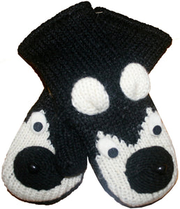 Animal Glove Wool Fleece Lined Warm Soft Adult Teenagers Outdoor Activities Ski Mitten - Agan Traders, Siberian Husky Mitten