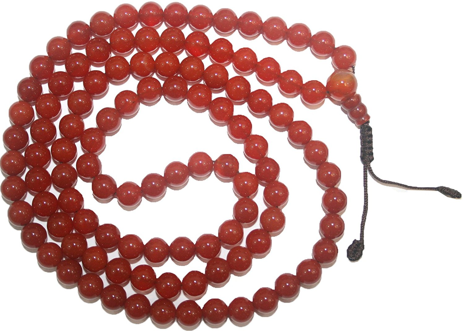 Agan Traders Original Tibetan Buddhist 108 Beads Prayer Meditation Mala - Agan Traders, Carnelian