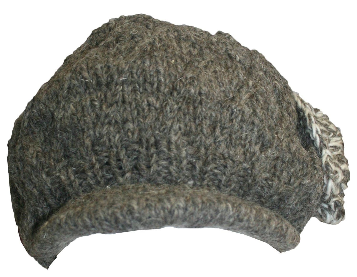 Knit Peak Hat OR Mitten Or Folding Mitten - Agan Traders, 1420 BrWh