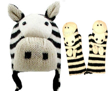 Knit Animal Hat Mitten Set Kids Size - Agan Traders