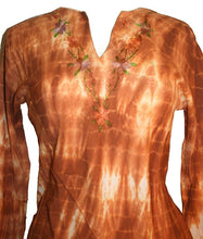 Light Weight Cotton Embroidered Long Tunic Blouse - Agan Traders