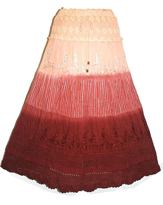 Cotton Netted Embroidery Gypsy Renaissance Vintage Skirt or Dress - Agan Traders