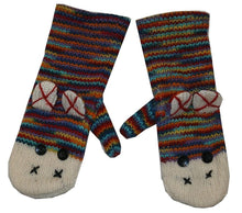 Animal Glove Wool Fleece Lined Warm Soft Adult Teenagers Outdoor Activities Ski Mitten - Agan Traders, Sock Monkey Mitten