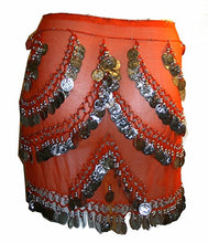 ST Agan Traders Belly Dancing Zumba Hip Coin Gypsy Hip Scarf - Agan Traders, Orange CR